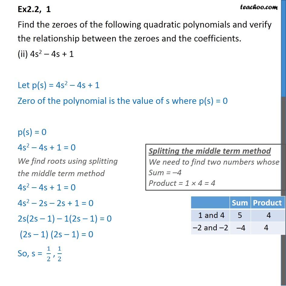 Ex 2.2, 1 - Chapter 2 Class 10 Polynomials - Part 3