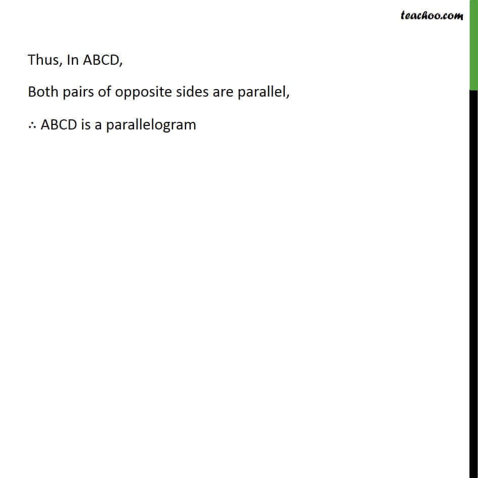 3 Theorem 8.5 - Both pairs of Opposite sides are Parallel ABCD is Parallelogram.jpg