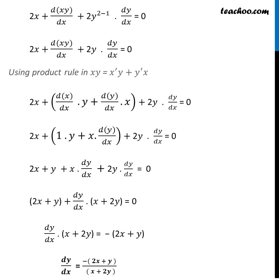 Ex 5.3, 5 - Chapter 5 Class 12 Continuity and Differentiability - Part 2