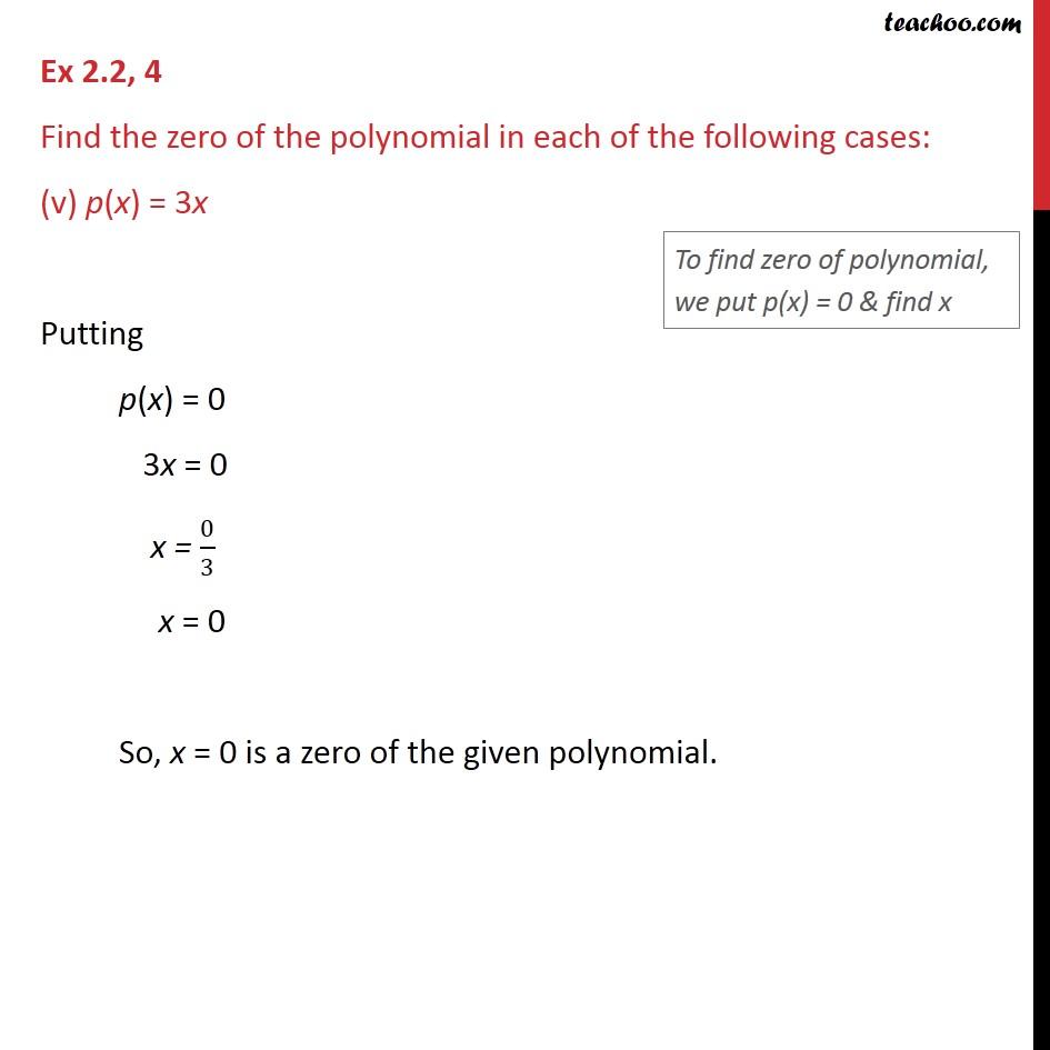 Ex 2.2,4 - Chapter 2 Class 9 Polynomials - Part 5
