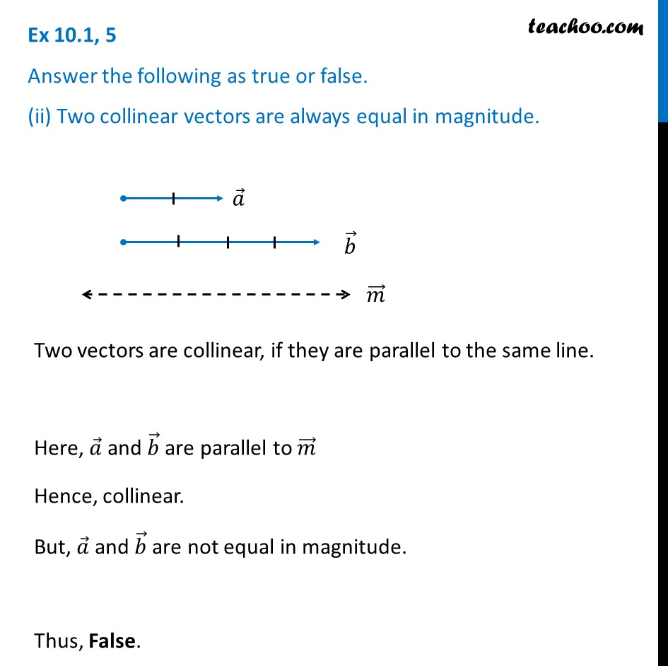 Ex 10.1, 5 - Chapter 10 Class 12 Vector Algebra - Part 2