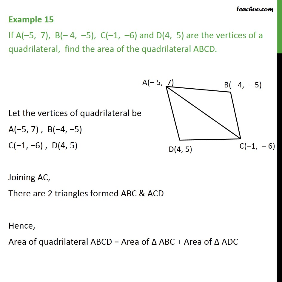 Example 15 If A 5 7 B 4 5 C 1 6 D4 5 Examples