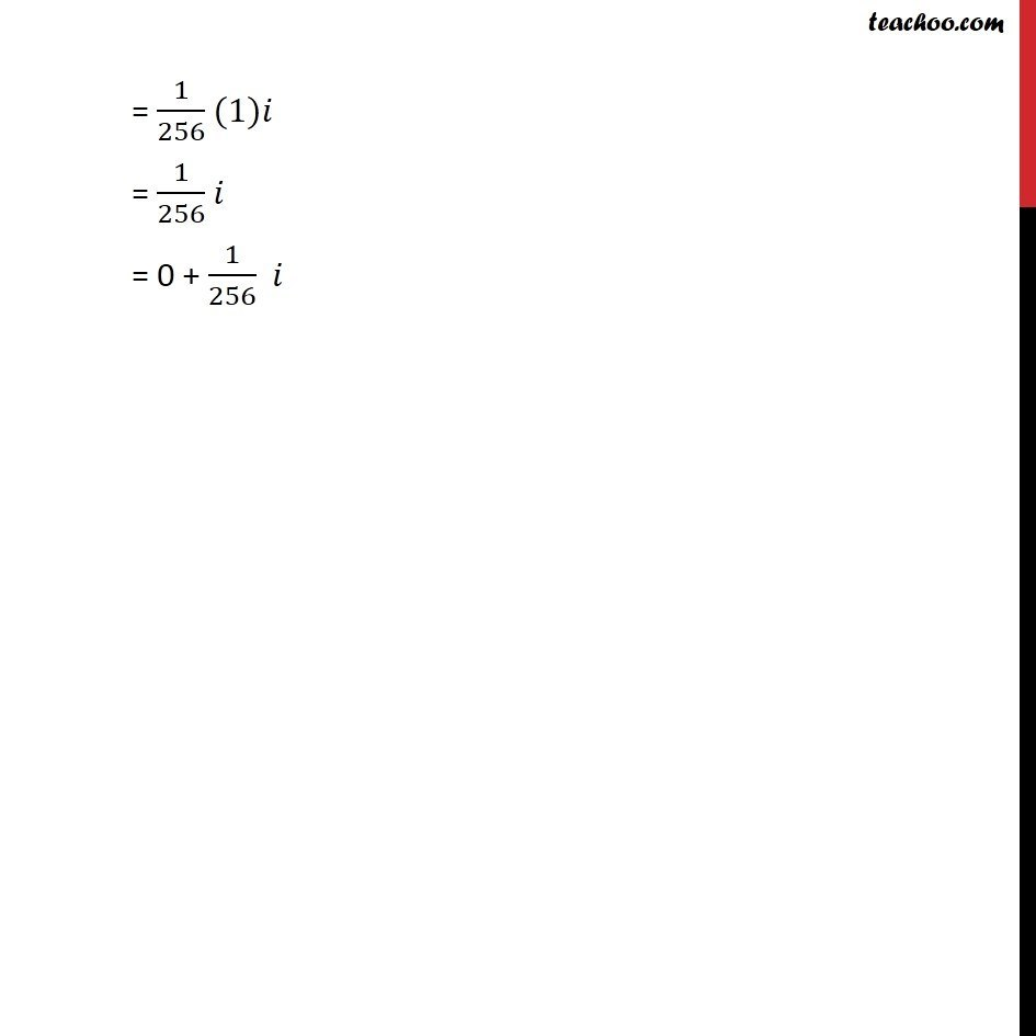 Example 2 - Chapter 5 Class 11 Complex Numbers - Part 3