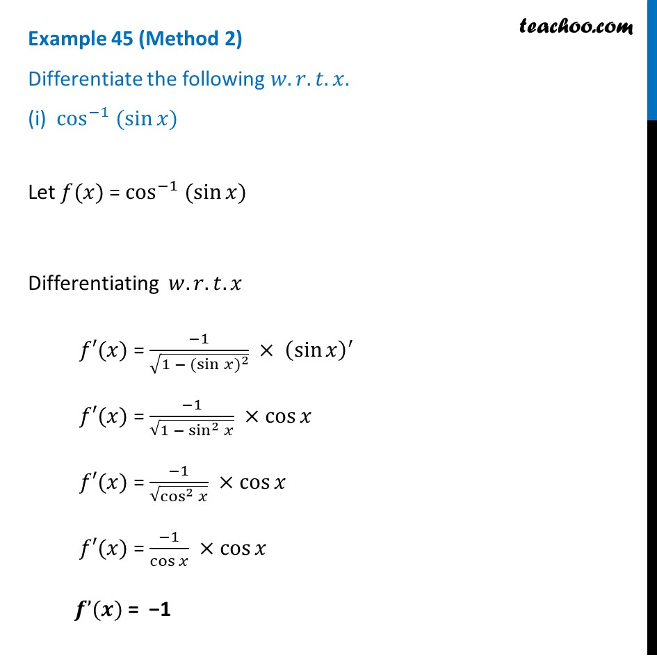 Example 45 - Chapter 5 Class 12 Continuity and Differentiability - Part 2