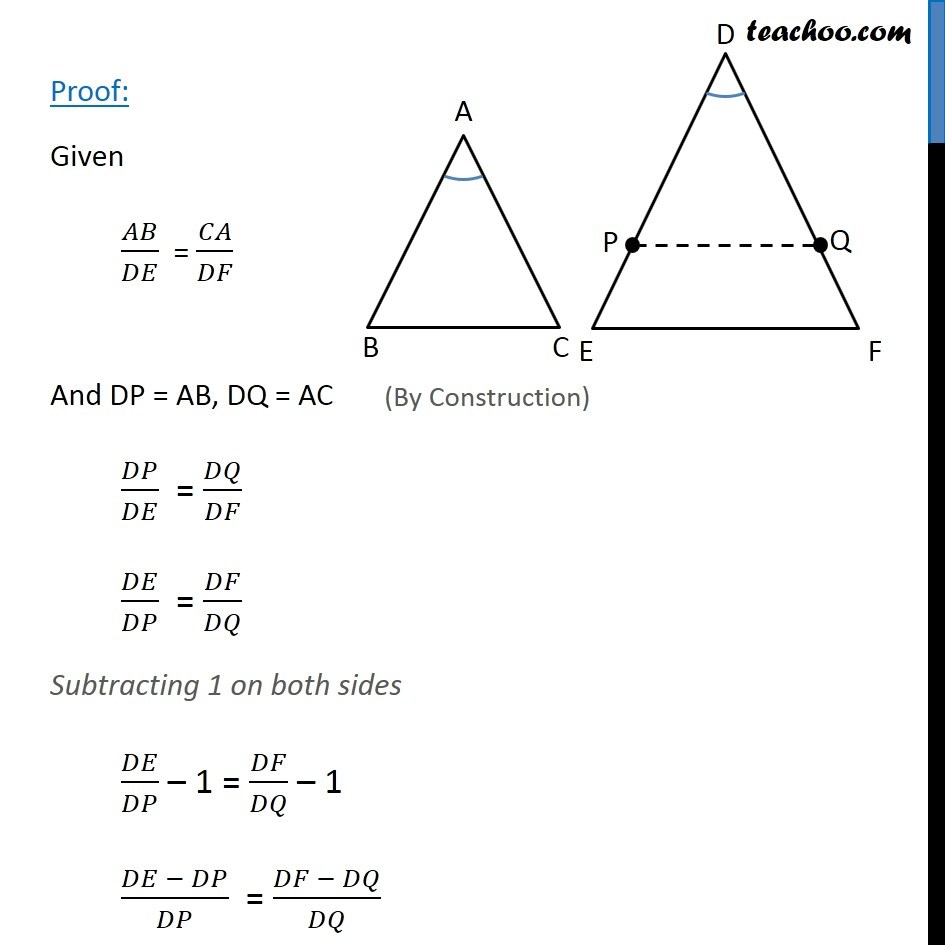 Theorem 6.5 - Chapter 6 Class 10 Triangles - Part 2