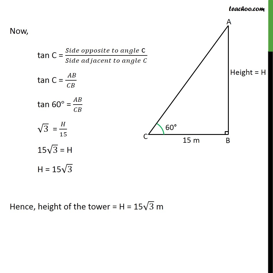 Example 1 - Chapter 9 Class 10 Some Applications of Trigonometry - Part 2