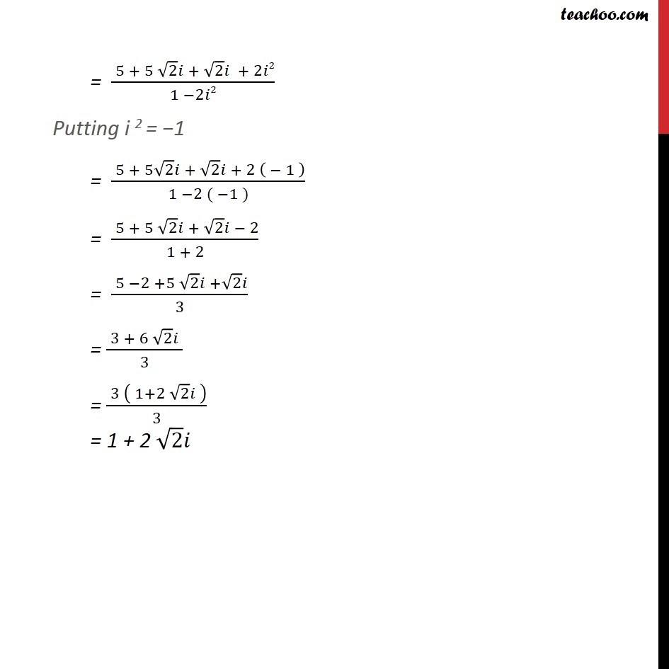 Example 6  - Chapter 5 Class 11 Complex Numbers - Part 2