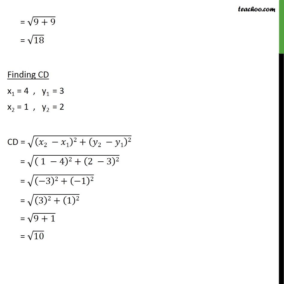 Ex 7.1, 6 - Chapter 7 Class 10 Coordinate Geometry - Part 19