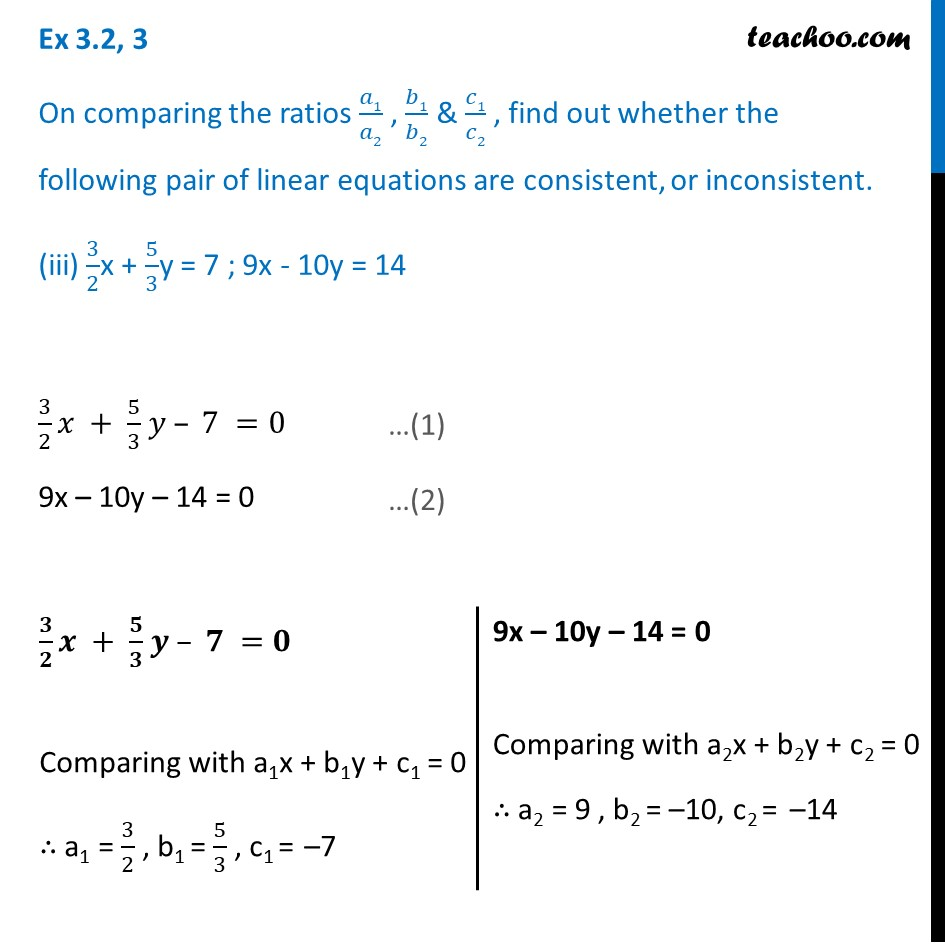 Ex 3.2, 3 - Chapter 3 Class 10 Pair of Linear Equations in Two Variables - Part 5