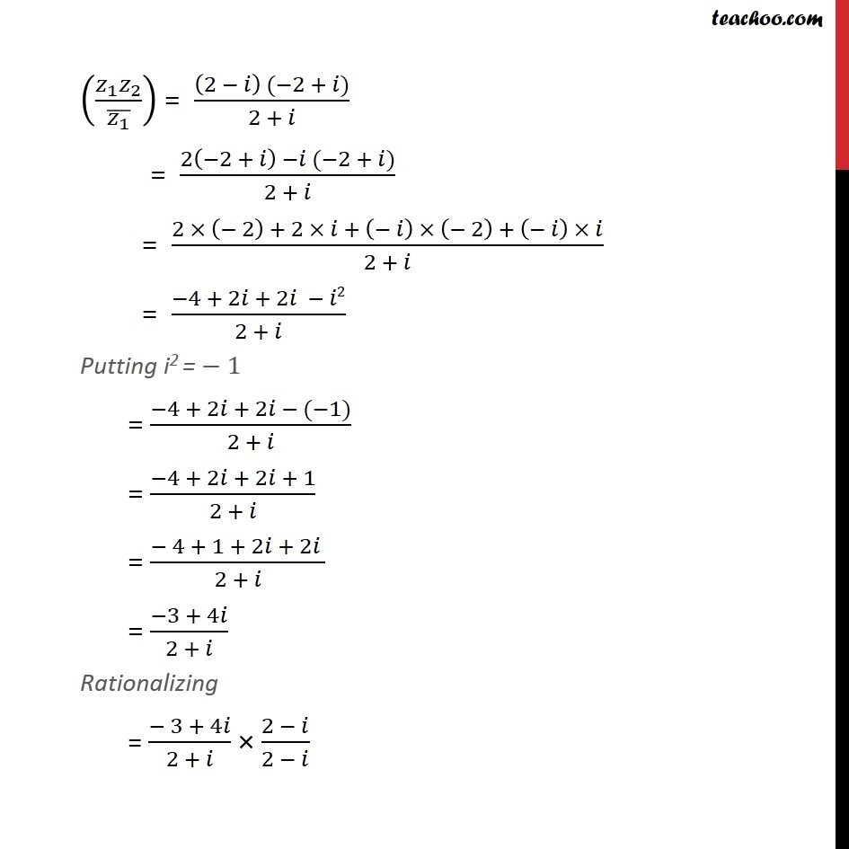 Misc 12  - Chapter 5 Class 11 Complex Numbers - Part 2