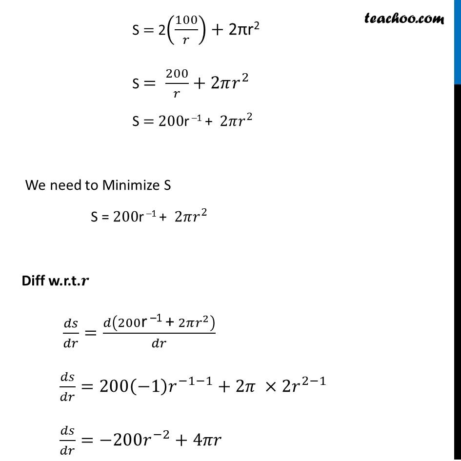 Ex 6.5,21 - Chapter 6 Class 12 Application of Derivatives - Part 3