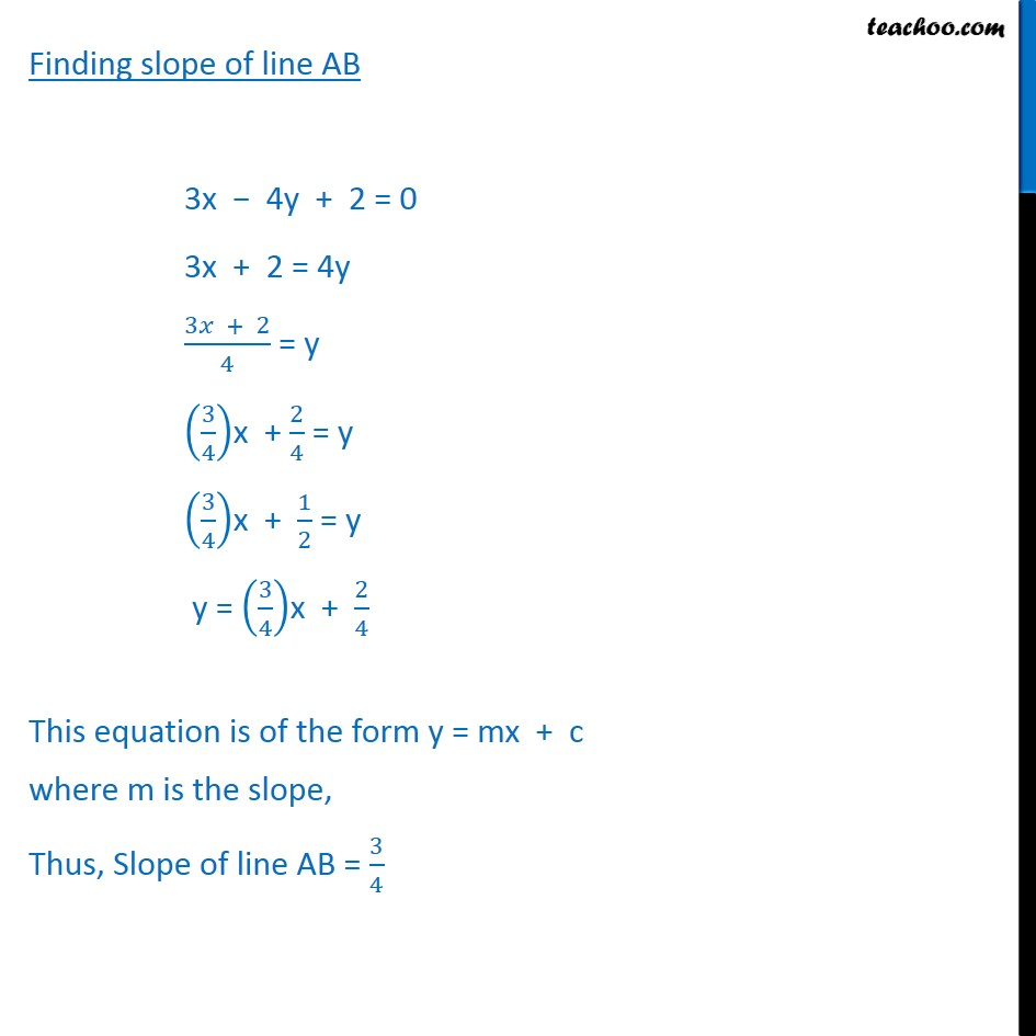 Ex 10.3, 7 - Chapter 10 Class 11 Straight Lines - Part 2