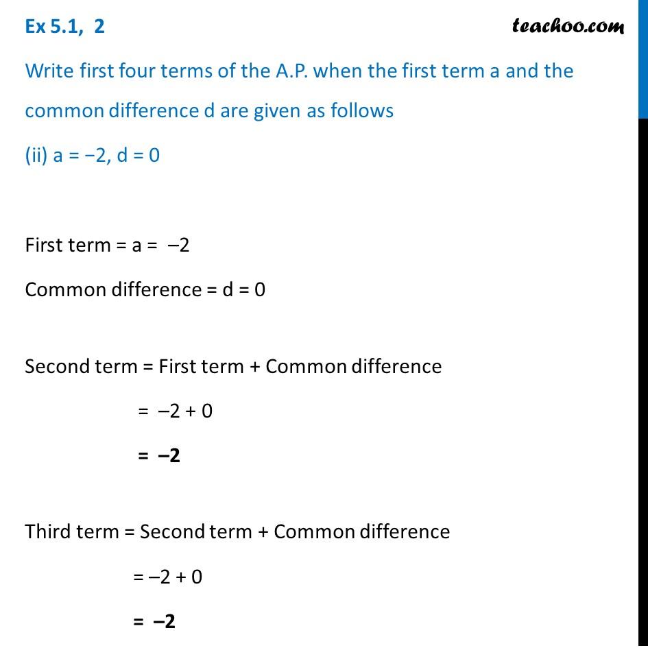 Ex 5.1, 2 - Chapter 5 Class 10 Arithmetic Progressions - Part 3