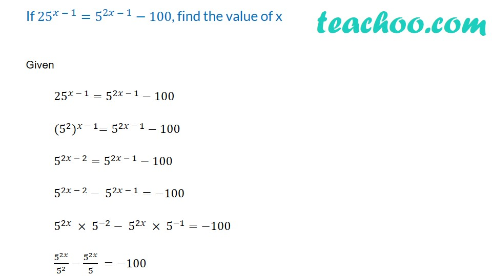 Practice Questions on Laws of Exponents - Part 8