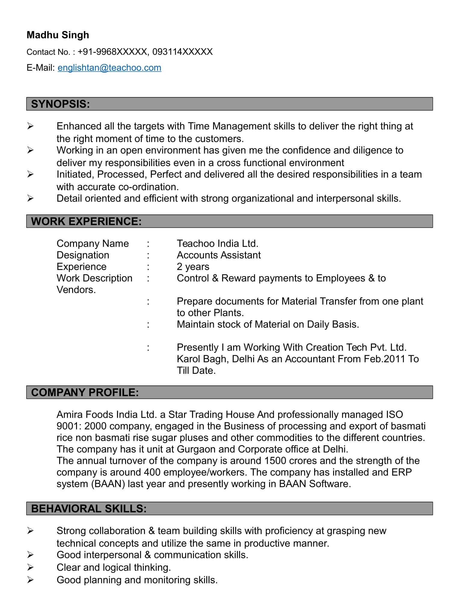 Resumes Formats - Resumes and Cover Letters
