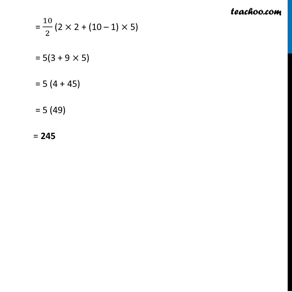 Ex 5.3, 1 - Chapter 5 Class 10 Arithmetic Progressions - Part 2