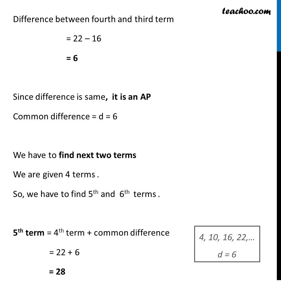 Example 2 - Chapter 5 Class 10 Arithmetic Progressions - Part 2