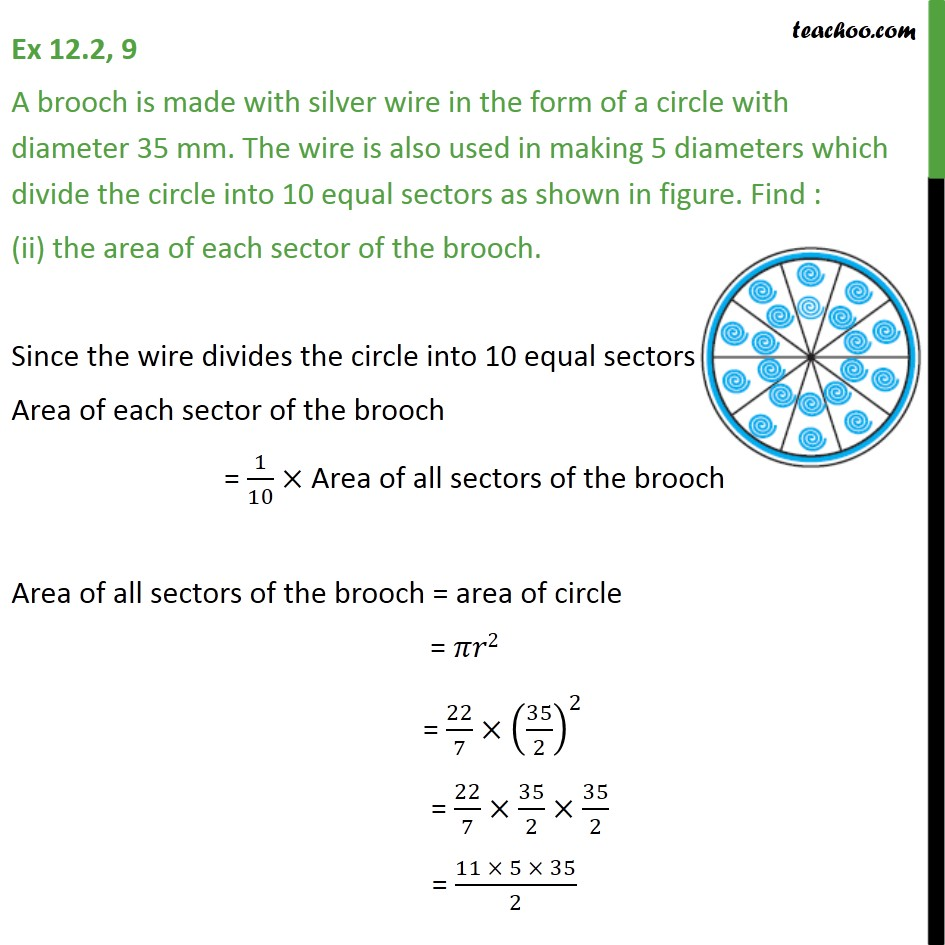 Ex 12.2, 9 - Chapter 12 Class 10 Areas related to Circles - Part 3