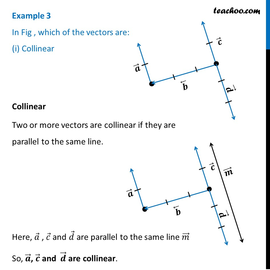 Example 3 - In Fig, which vectors are (i) Collinear - Examples
