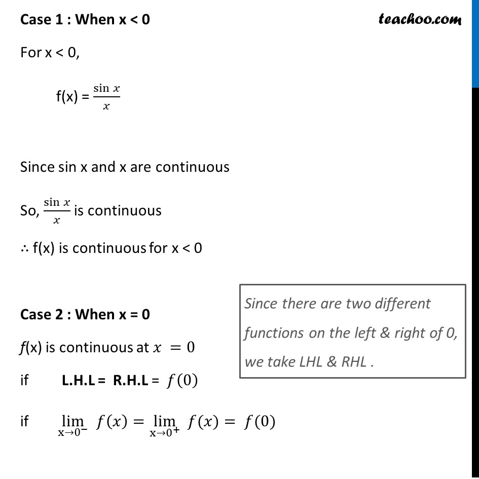 Ex 5.1, 23 - Chapter 5 Class 12 Continuity and Differentiability - Part 2