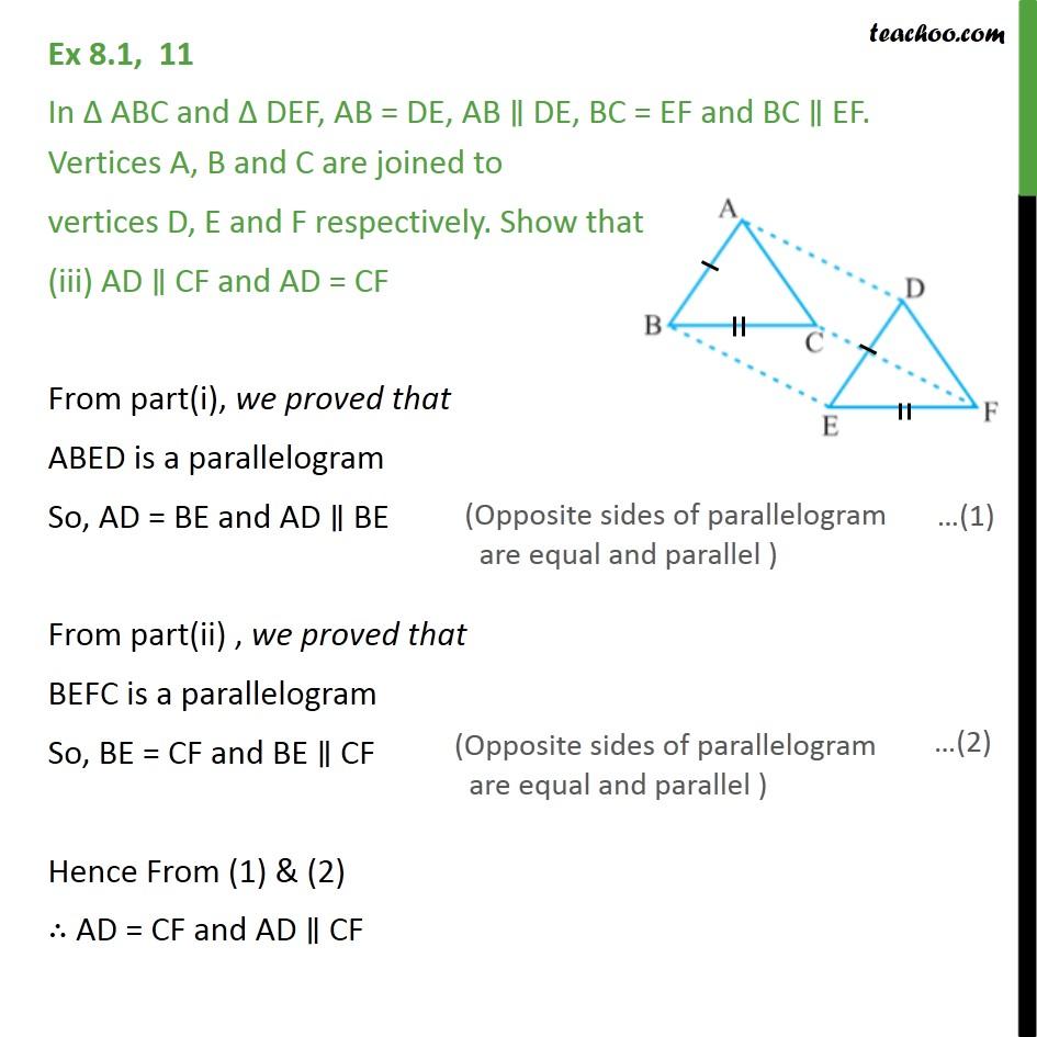 Ex 8.1, 11 - Chapter 8 Class 9 Quadrilaterals - Part 3