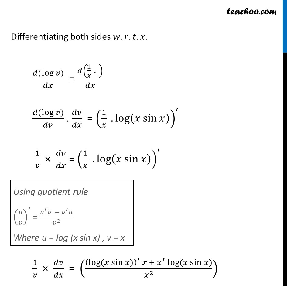 Ex 5.5, 11 - Chapter 5 Class 12 Continuity and Differentiability - Part 5