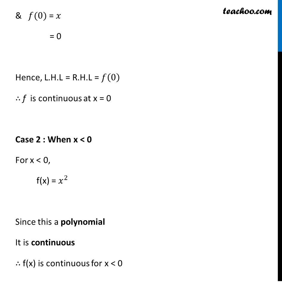 Example 13 - Chapter 5 Class 12 Continuity and Differentiability - Part 3