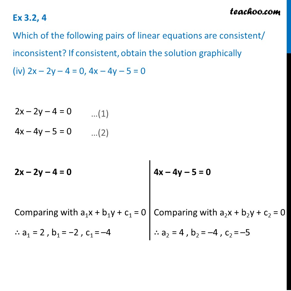 Ex 3.2, 4 - Chapter 3 Class 10 Pair of Linear Equations in Two Variables - Part 13