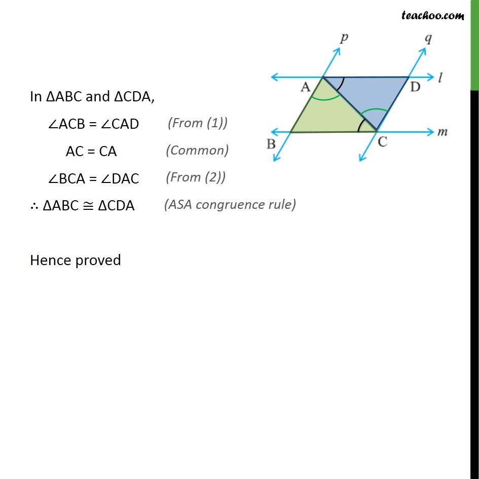 Ex 7.1, 4 - Chapter 7 Class 9 Triangles - Part 2
