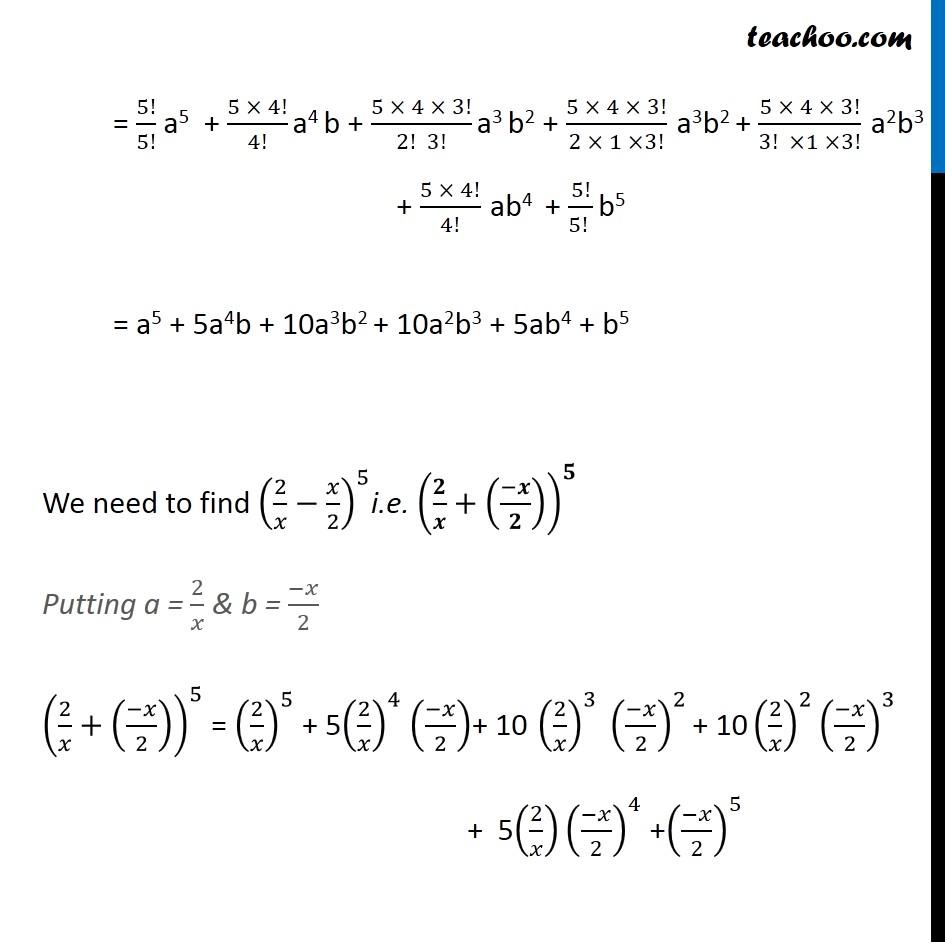 Ex 8.1,2 - Chapter 8 Class 11 Binomial Theorem - Part 2
