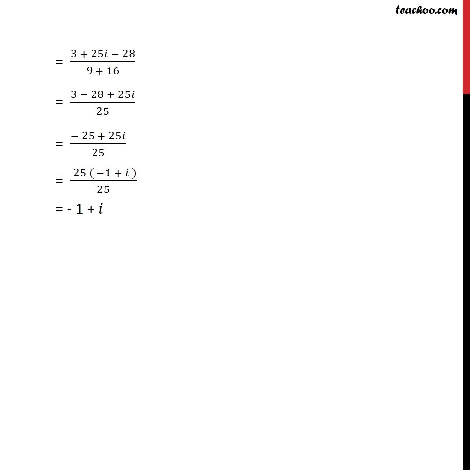 Misc 5 - Chapter 5 Class 11 Complex Numbers - Part 3
