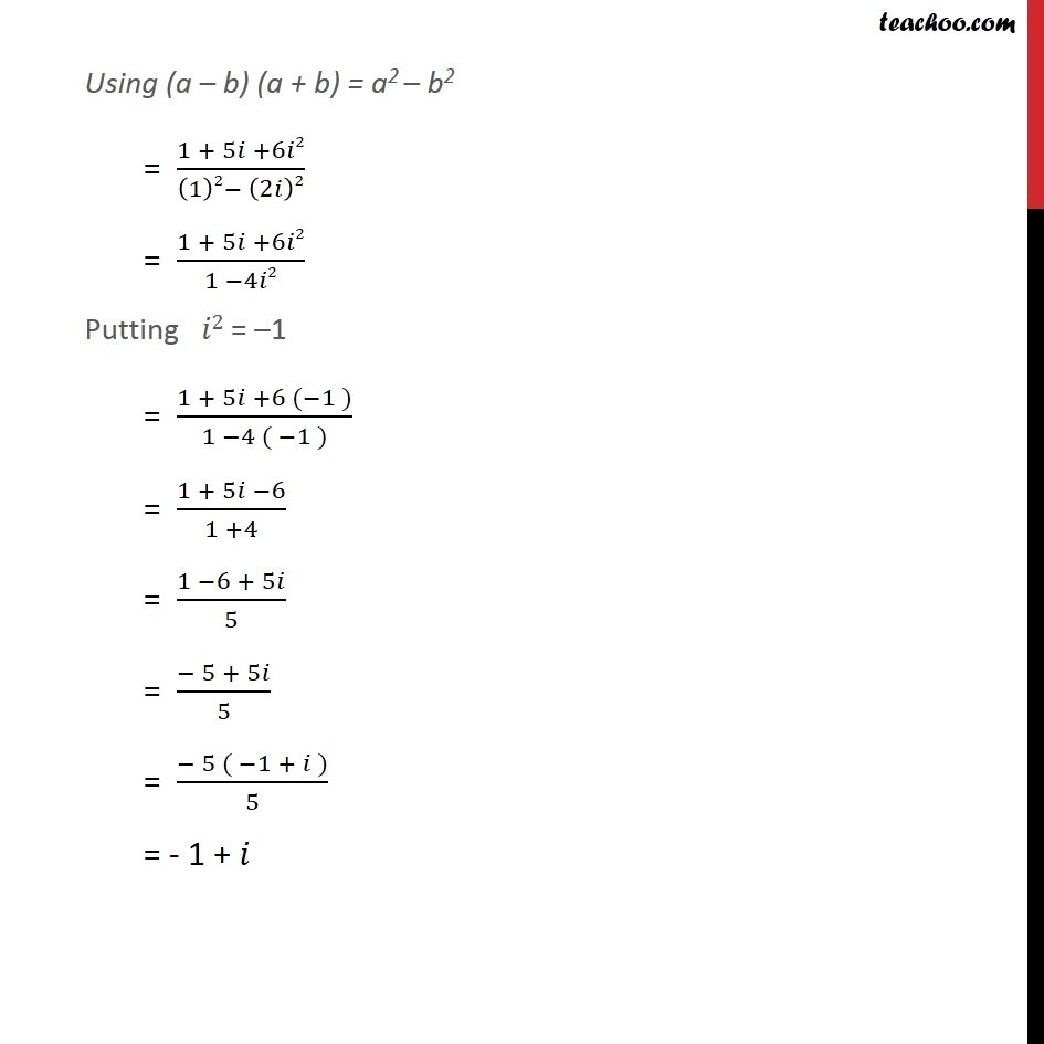 Misc 5 - Chapter 5 Class 11 Complex Numbers - Part 10