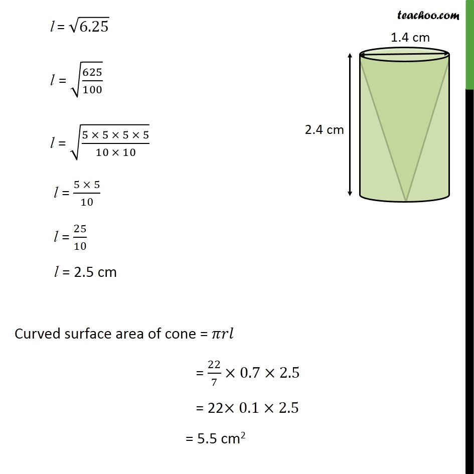 Ex 13.1, 8 - Chapter 13 Class 10 Surface Areas and Volumes - Part 4