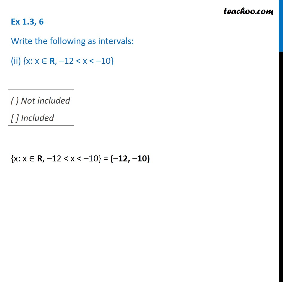 Ex 1.3, 6 - Chapter 1 Class 11 Sets - Part 2