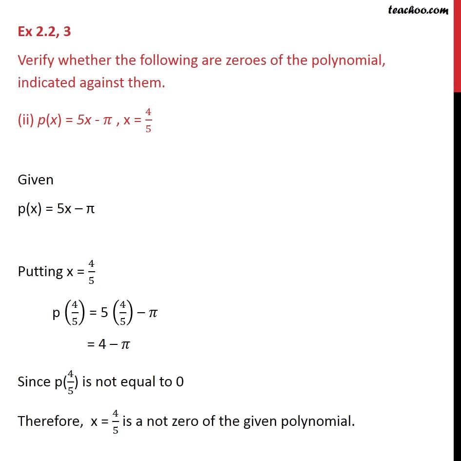 Ex 2.2,3 - Chapter 2 Class 9 Polynomials - Part 2