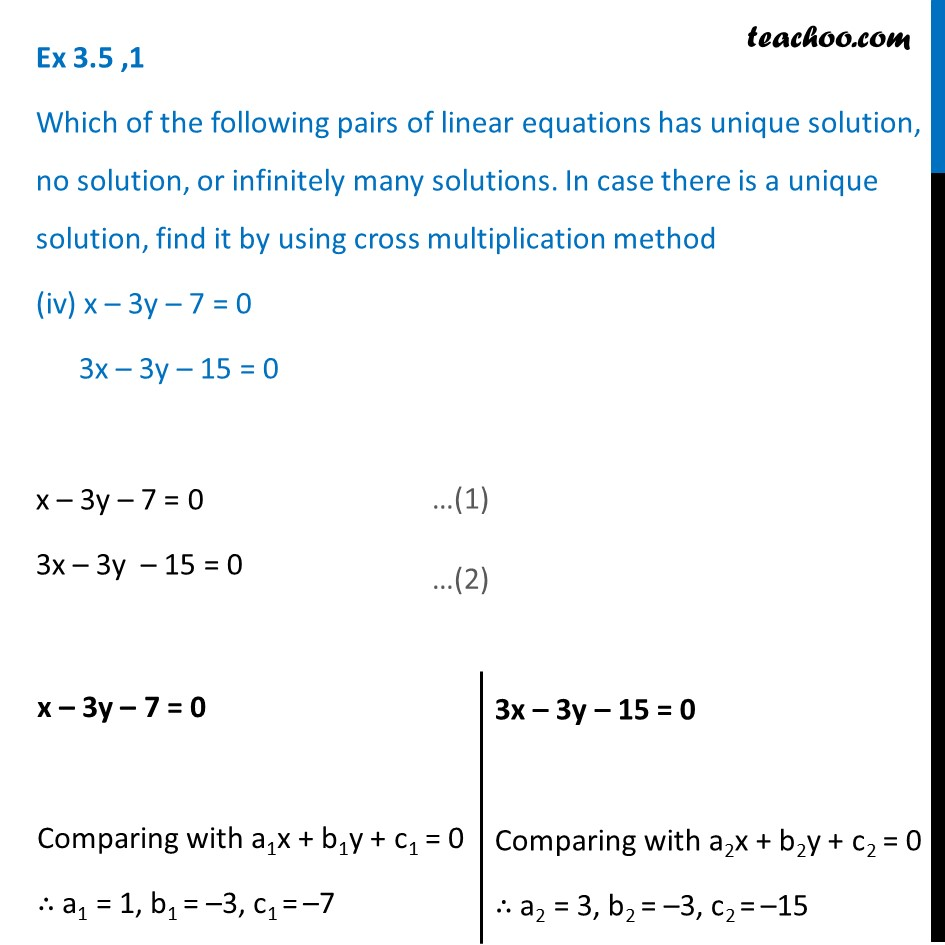 Ex 3.5, 1 - Chapter 3 Class 10 Pair of Linear Equations in Two Variables - Part 9