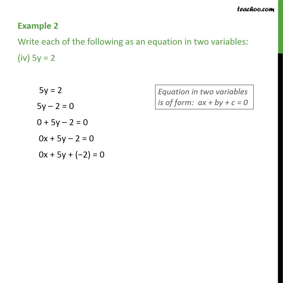 Example 2 - Chapter 4 Class 9 Linear Equations in Two Variables - Part 4
