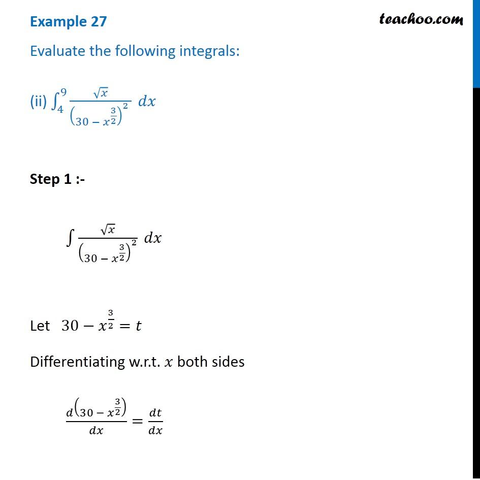Example 27 - Chapter 7 Class 12 Integrals - Part 2