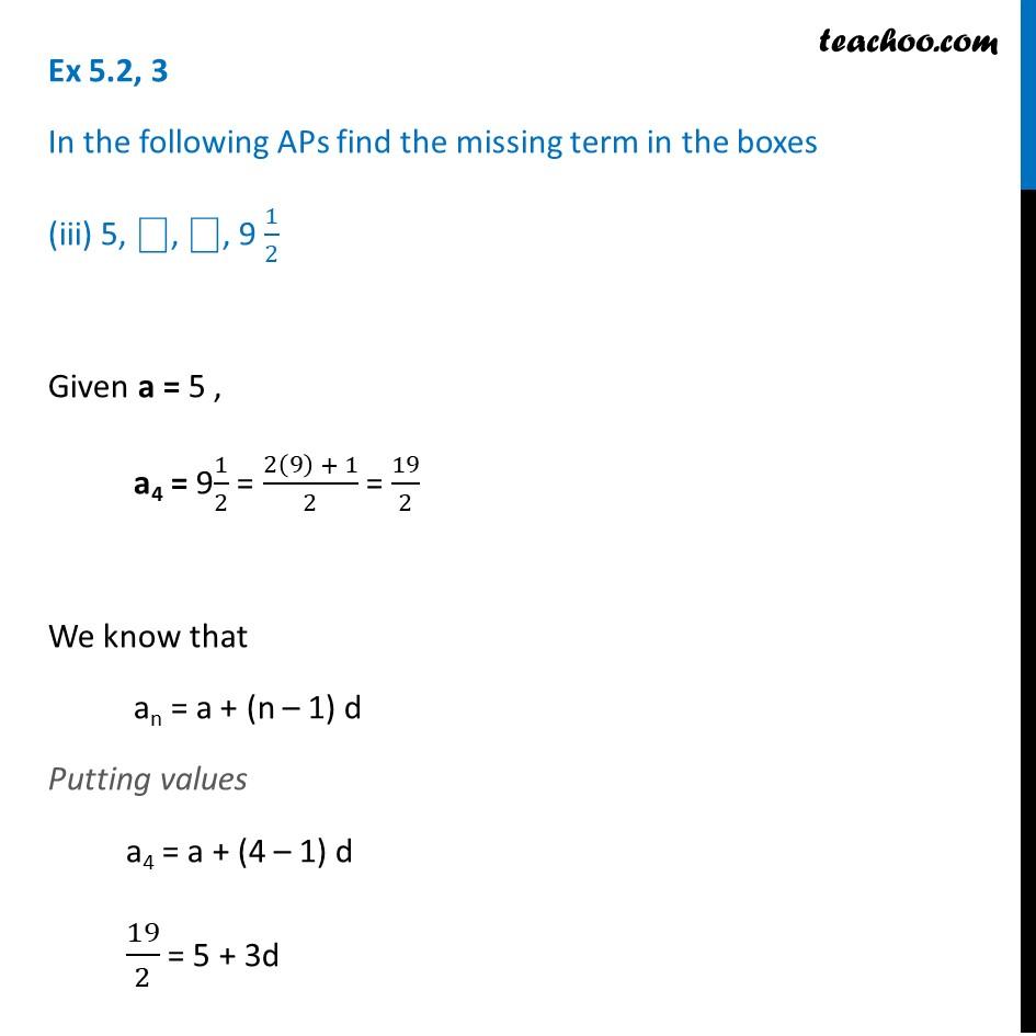Ex 5.2, 3 - Chapter 5 Class 10 Arithmetic Progressions - Part 6
