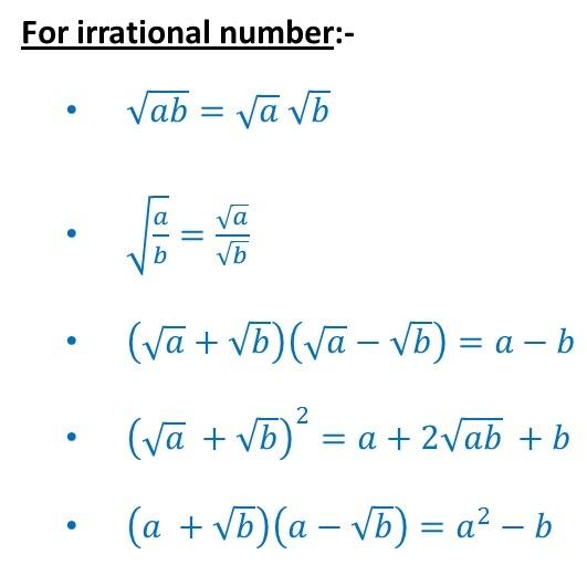 Irrational numbers formula - Algebra Formulas - teachoo.jpg