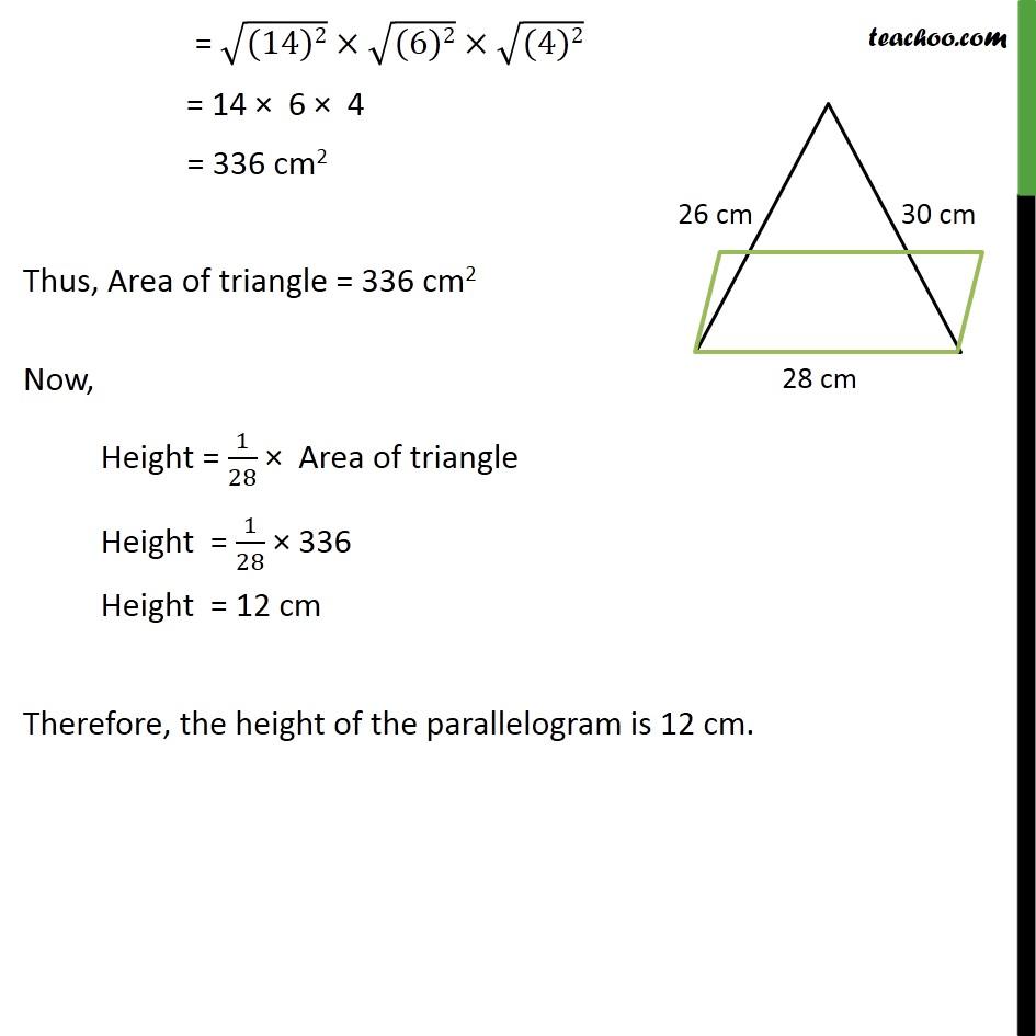 Ex 12.2, 4 - Chapter 12 Class 9 Herons Formula - Part 3
