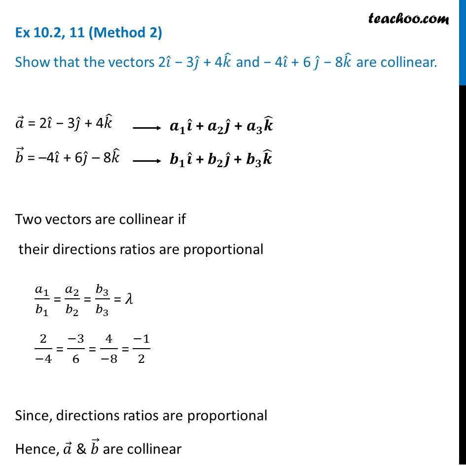 Ex 10.2, 11 - Chapter 10 Class 12 Vector Algebra - Part 3