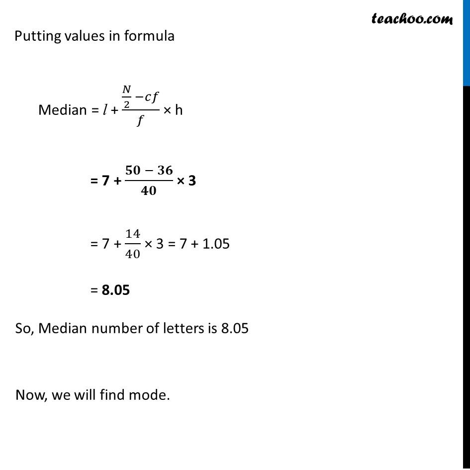 Ex 14.3, 6 - Chapter 14 Class 10 Statistics - Part 3