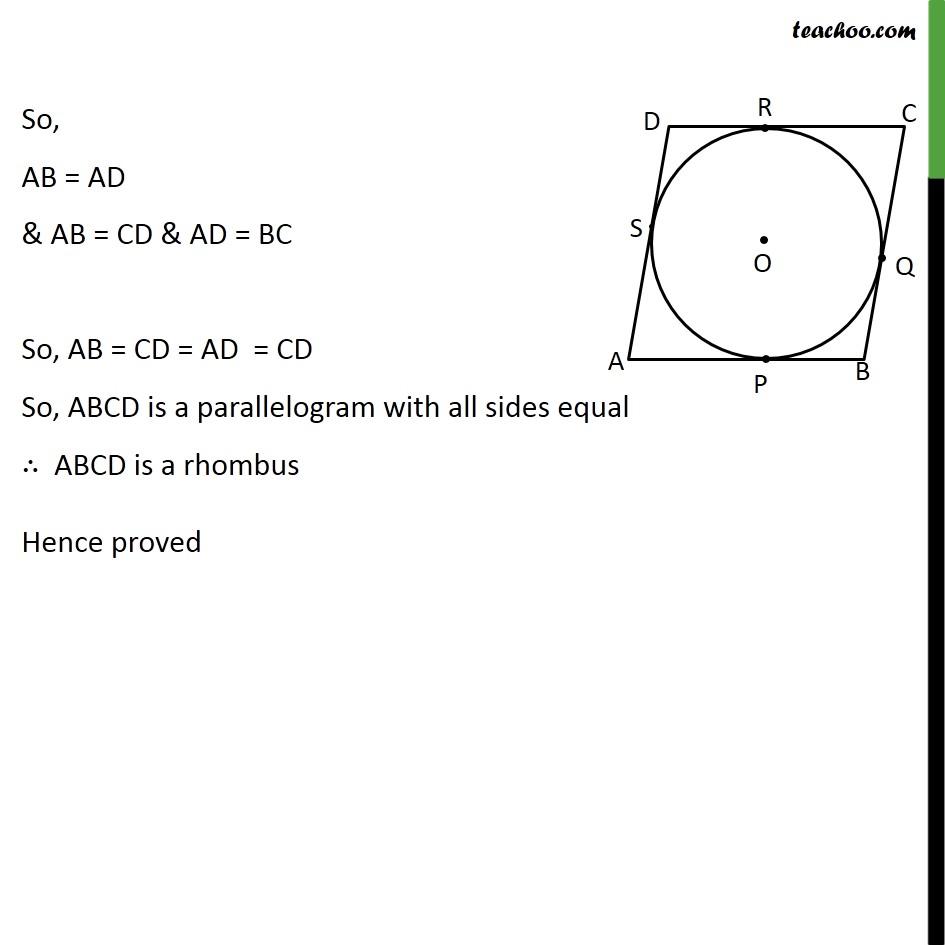 Ex 10.2, 11 - Chapter 10 Class 10 Circles - Part 3