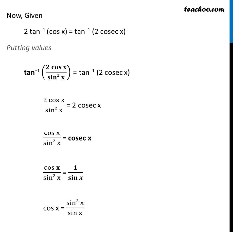 Misc. 13 - Chapter 2 Class 12 Inverse Trigonometric Functions - Part 2