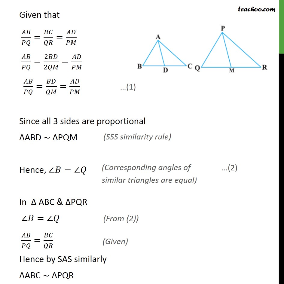 Ex 6.3, 12 - Chapter 6 Class 10 Triangles - Part 2