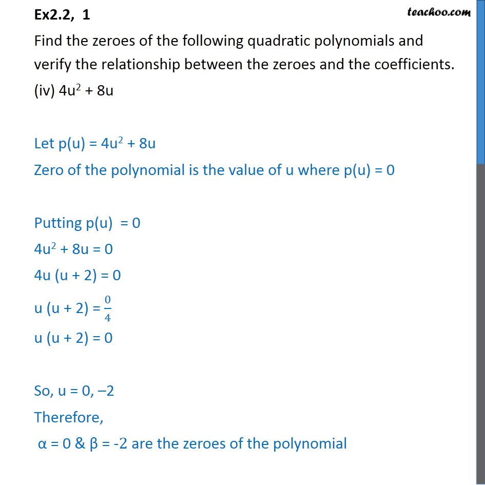 Ex 2.2, 1 - Chapter 2 Class 10 Polynomials - Part 7