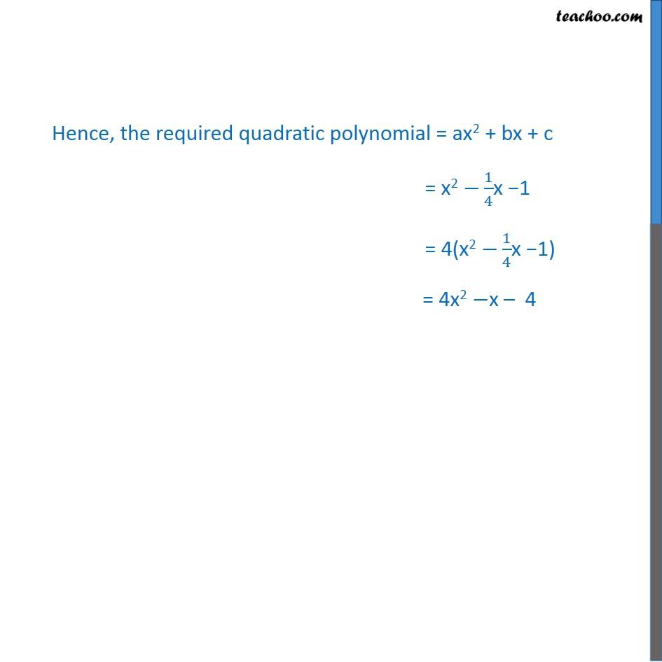 Ex 2.2, 2 - Chapter 2 Class 10 Polynomials - Part 2