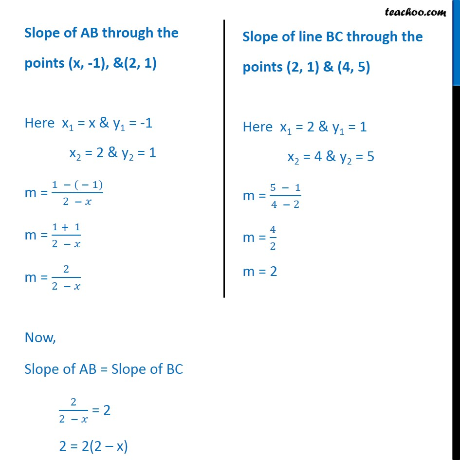 Ex 10.1, 8 - Chapter 10 Class 11 Straight Lines - Part 2