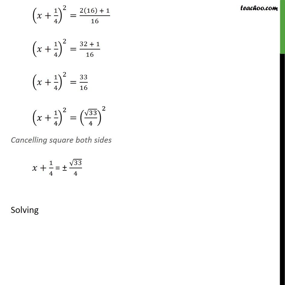 Ex 4.3, 1 (ii) - Chapter 4 Class 10 Quadratic Equations - Part 3